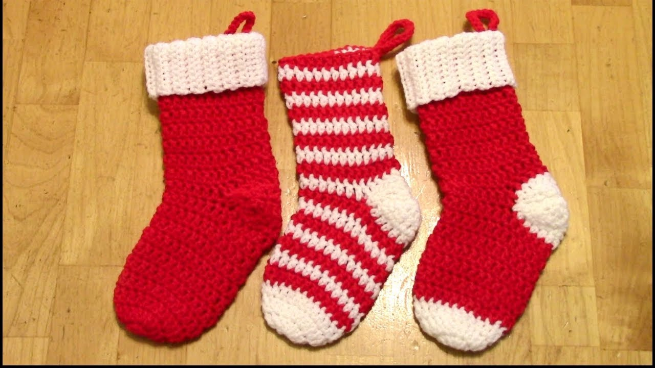 Crochet Stocking Pattern  Crochet Christmas Stocking Tutorial Spiralno Seam Youtube