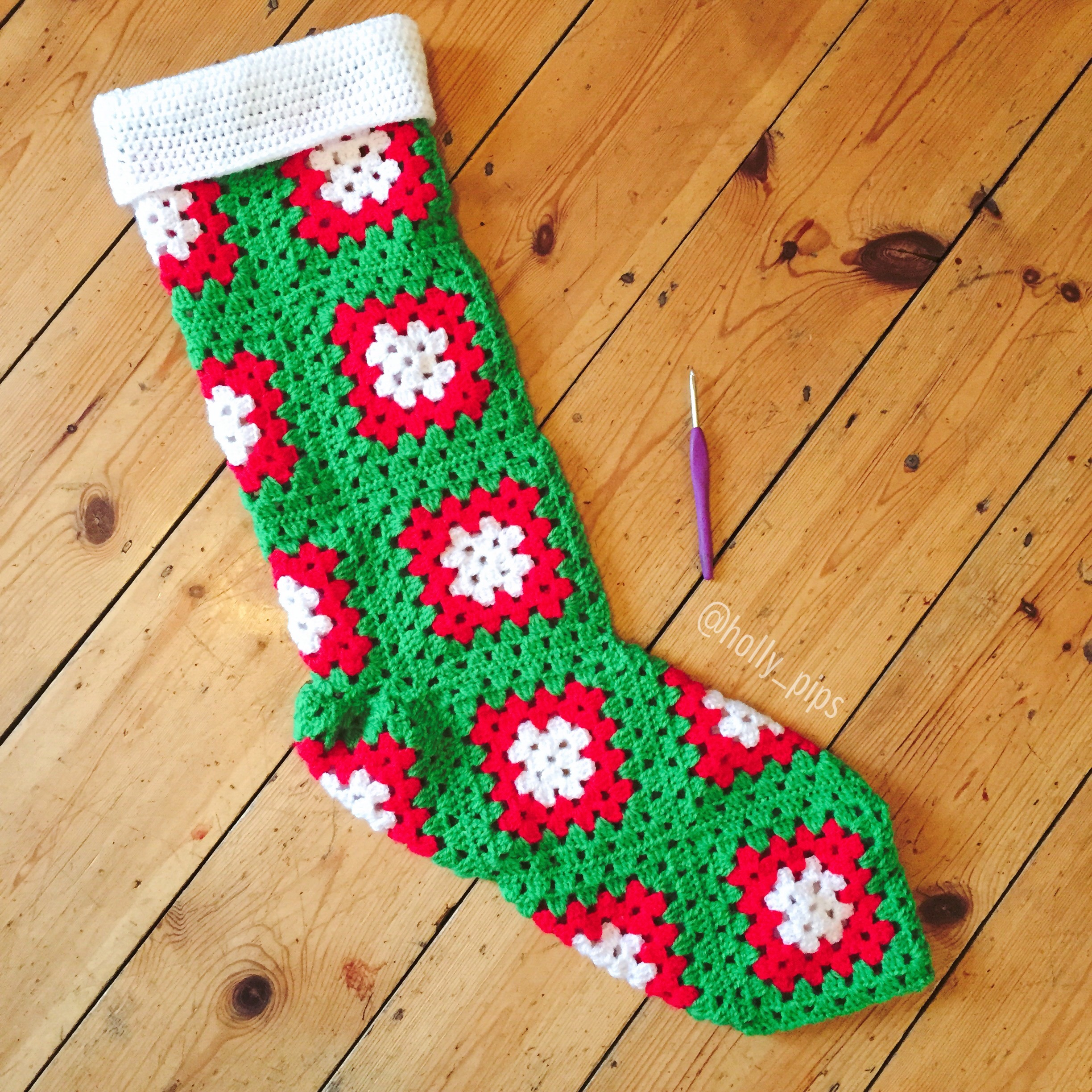 Crochet Stocking Pattern  Crochet Christmas Stockings Hollypips