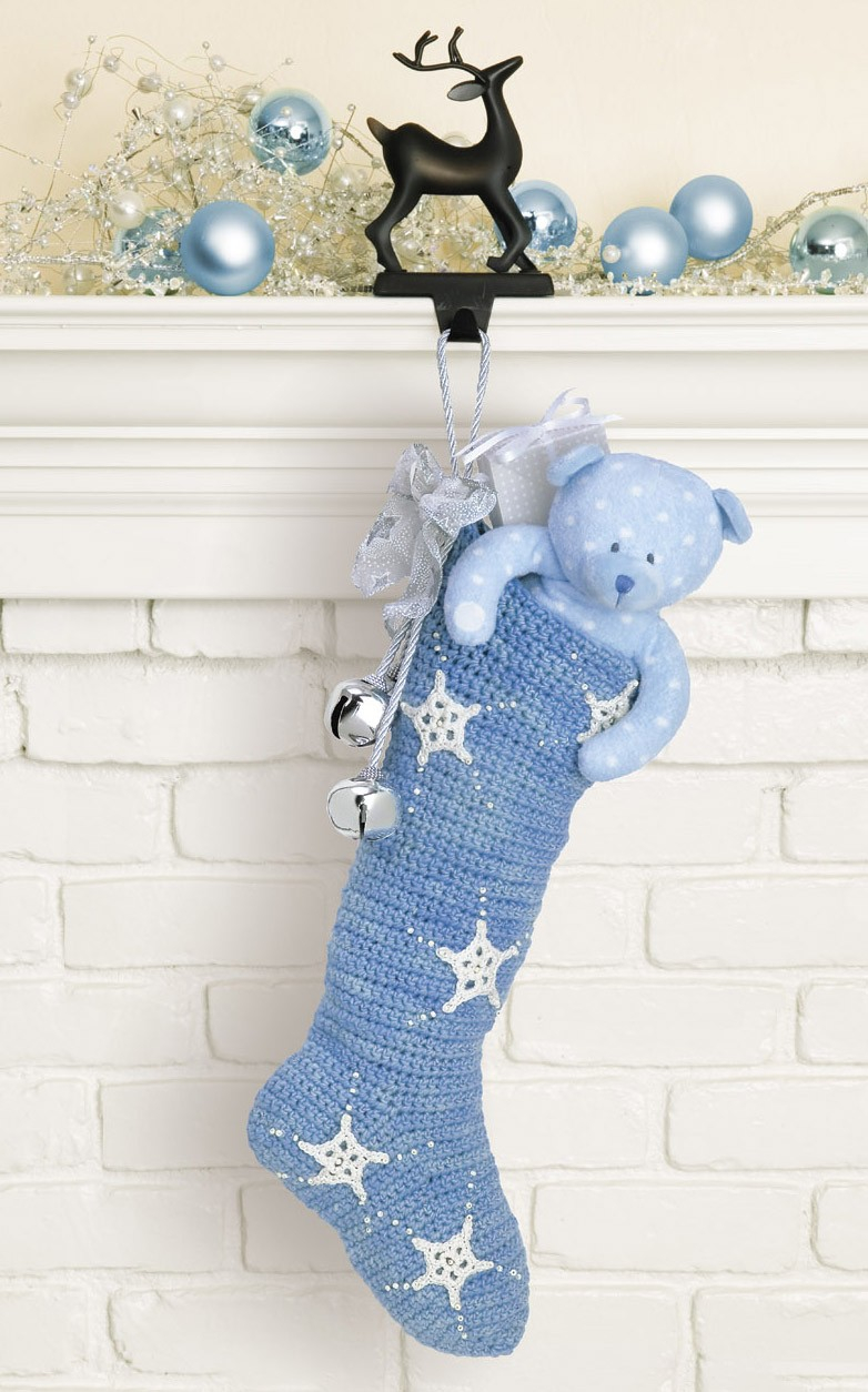 Crochet Stocking Pattern  Crocheted Christmas Stockings Leisurearts