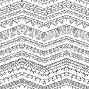 Crochet Zig Zag Pattern Vector Seamless Pattern Of Crochet Lacy Edges Sketched Zigzag