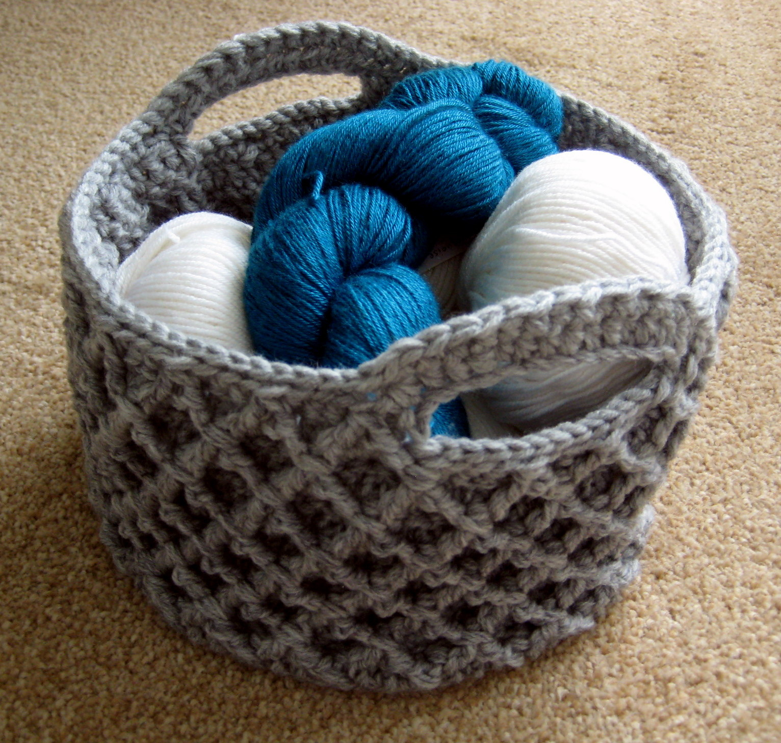 Diamond Crochet Pattern  Diamond Trellis Basket Make My Day Creative