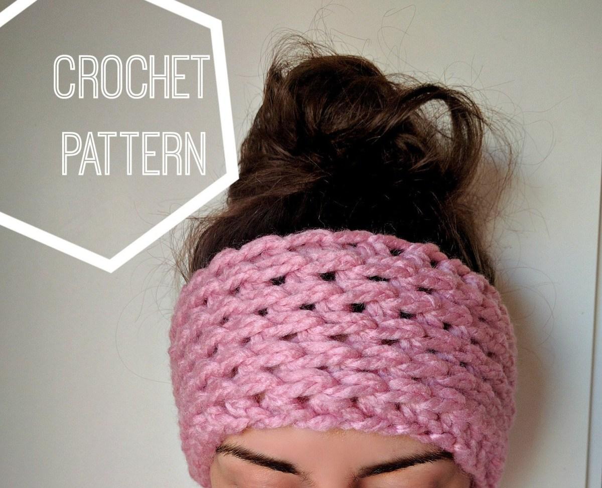 Ear Warmers Crochet Pattern Chunky Crochet Ear Warmer Pattern Ear Warmer Crochet Pattern Etsy