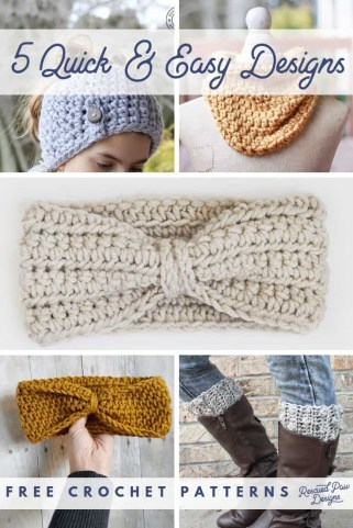 Easy Crochet Patterns 5 Quick Easy Crochet Patterns To Make Free Quick Scarf Hat Pattern