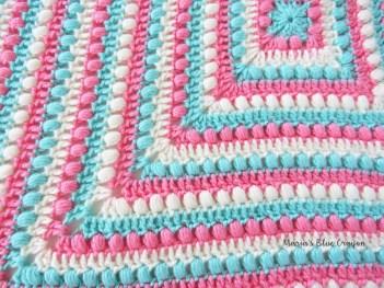 Easy Crochet Patterns Bobbles And Stripes Granny Square Blanket Free Easy Crochet
