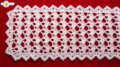 Easy Crochet Patterns Festive Table Runner Crochet Pattern Looks Fancy Easy Pattern