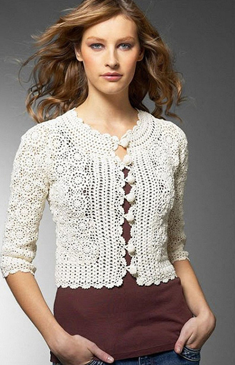 Free Crochet Jacket Pattern Designs for All Seasons Crochet Vintage Jacket Pattern Detailed Tutorial For Every Etsy