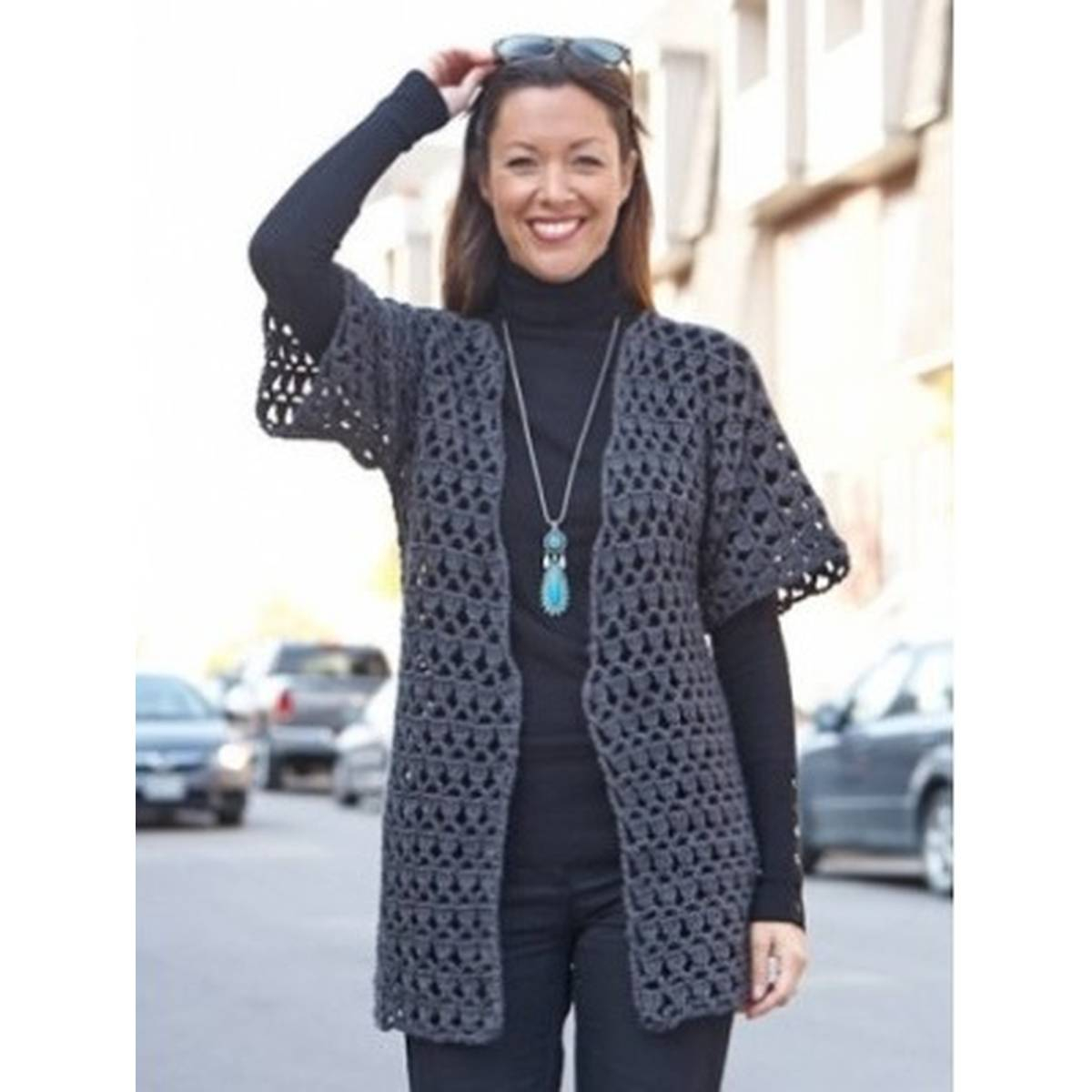 Free Crochet Jacket Pattern Designs for All Seasons Free Pattern Caron Office Crochet Jacket Hobcraft
