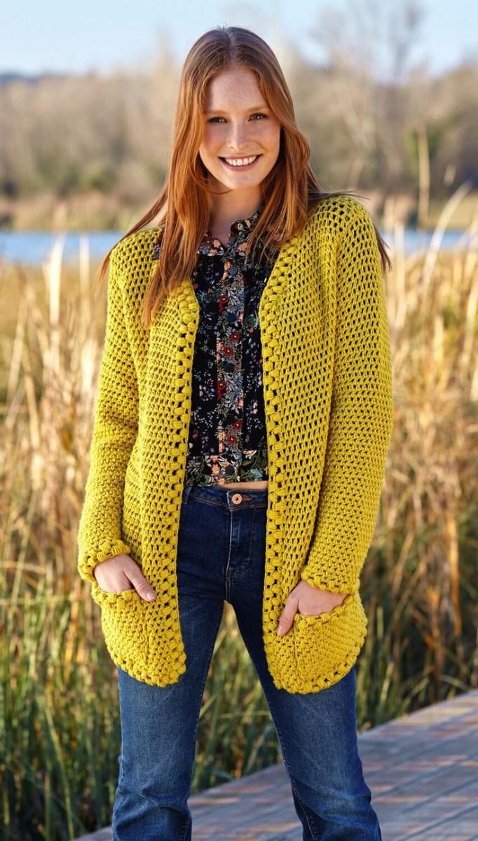 Free Crochet Jacket Pattern Designs for All Seasons Knitting Patterns Coat Crochet Jacket In Net Pattern Free Crochet