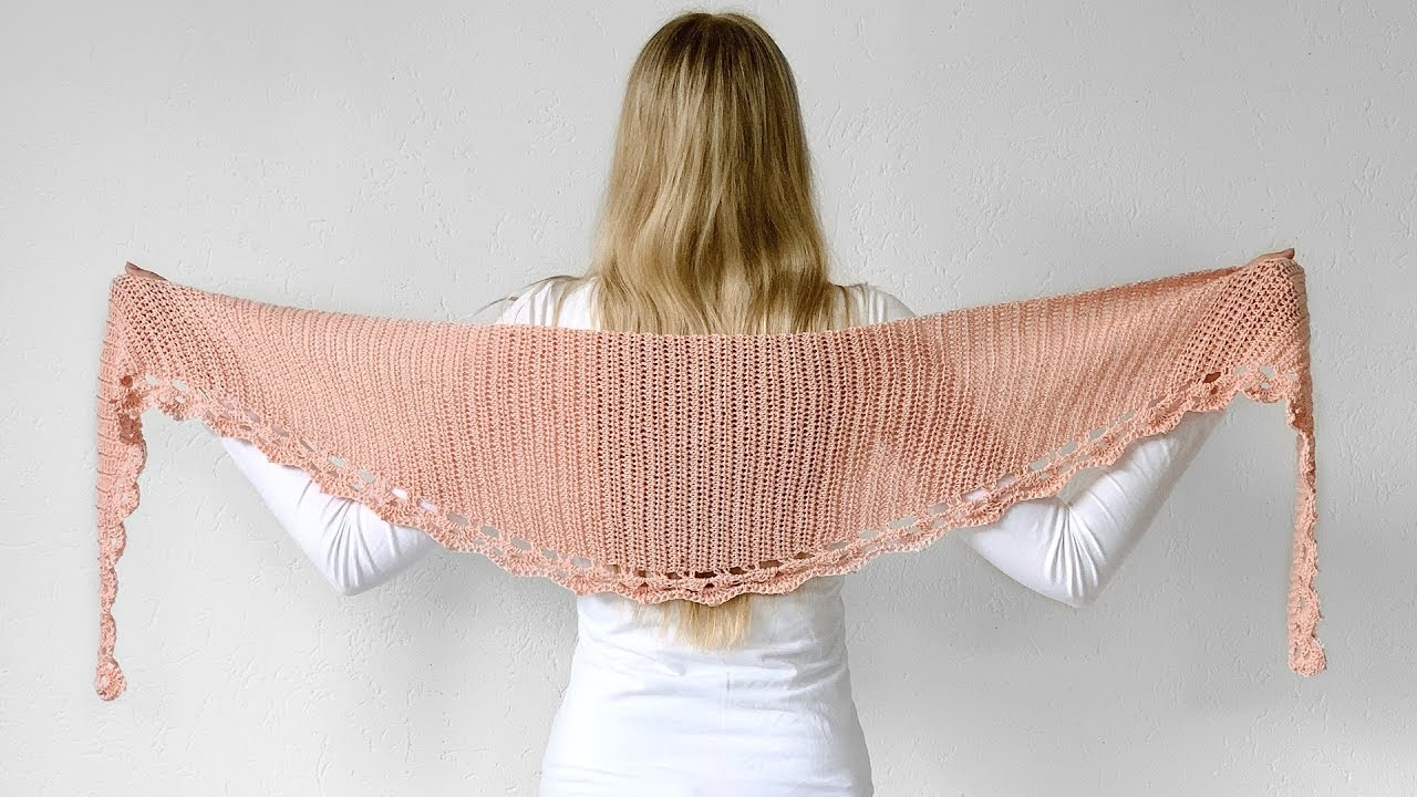 Free Crochet Patterns Newest To The Point Shawl Free Crochet Pattern Youtube
