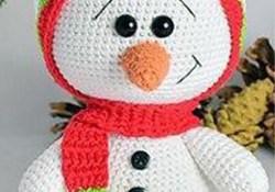 Holiday Crochet Patterns Free Free Pattern Amigurumi Snowman Holiday Crochet Tricot Tricot
