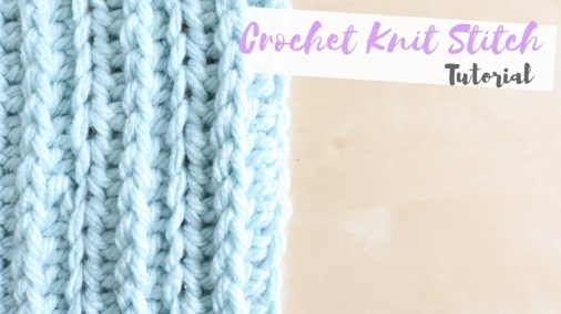 Knit Crochet Patterns Crochet How To Crochet The Knit Stitch Bella Coco Youtube