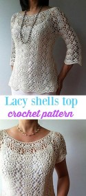 Knit Crochet Patterns Crochet Top Pattern Summer Lacy Shells Stitch For A Flattering Fit