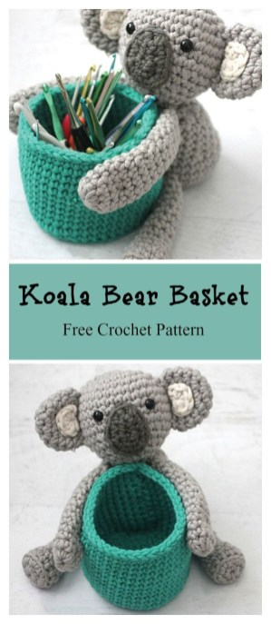 Knit Crochet Patterns Koala Bear Basket Free Crochet Pattern Ba And Children Crochet