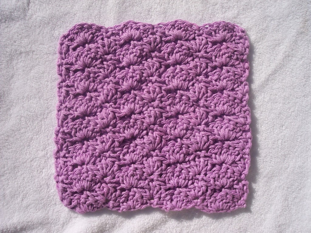 Quick and Simple Dish Cloth Crochet Pattern A Shell Of A Washcloth Stitch11