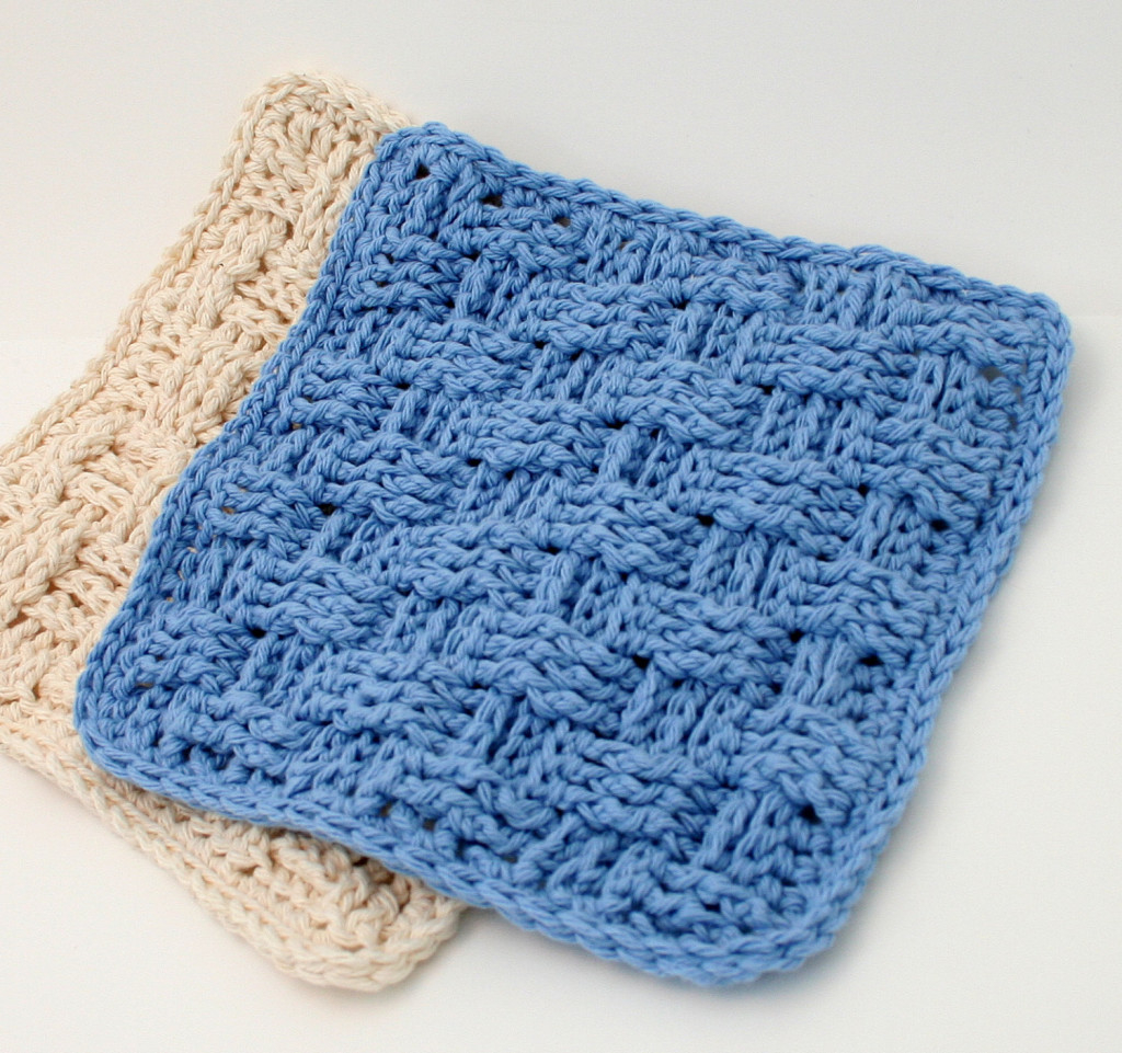 Quick and Simple Dish Cloth Crochet Pattern Basket Weave Dishcloth Pattern Crochet