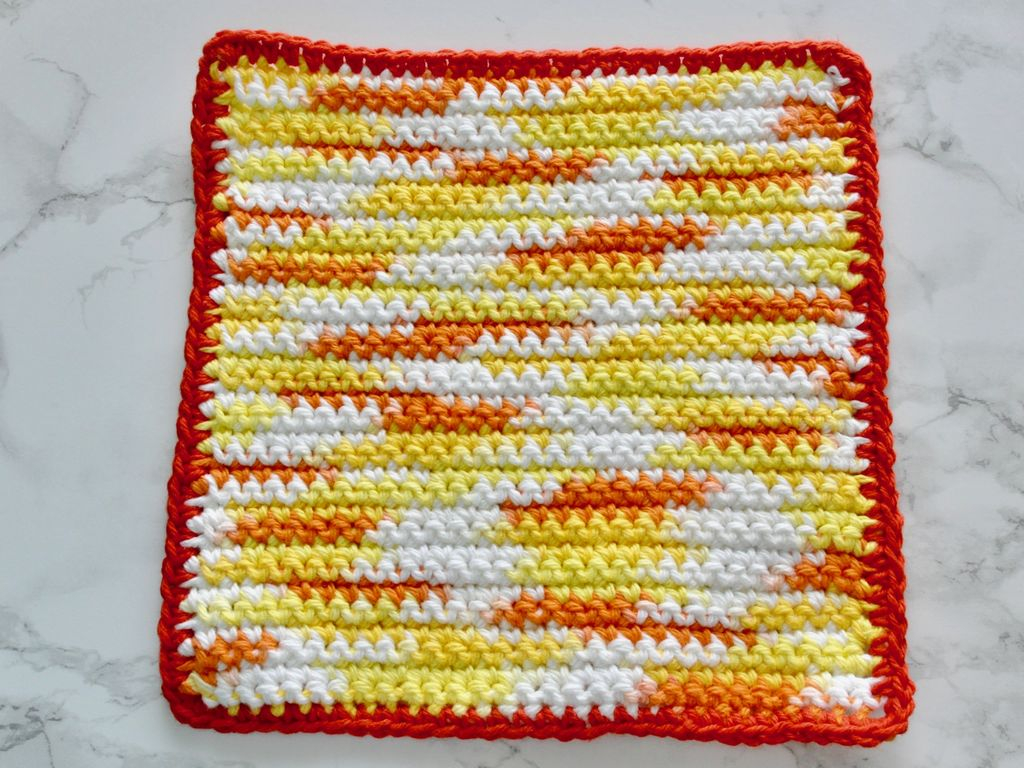 Quick and Simple Dish Cloth Crochet Pattern Easy Crochet Dishcloth Washcloth 9 Steps With Pictures