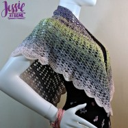 Redheart Crochet Patterns A New Wrap W Red Heart Its A Wrap Rainbow Yarn Jessie At Home