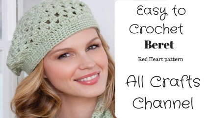 Redheart Crochet Patterns How To Crochet Easy Beret Redheart Pattern Lw2741 Yolanda