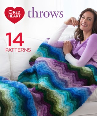 Redheart Crochet Patterns Red Heart Super Saver Throws Red Heart
