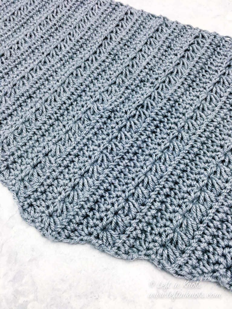 Scarf Crochet Pattern Free to Upgrade Your Winter Style Snow Drops Mod Scarf A Free Crochet Pattern Left In Knots