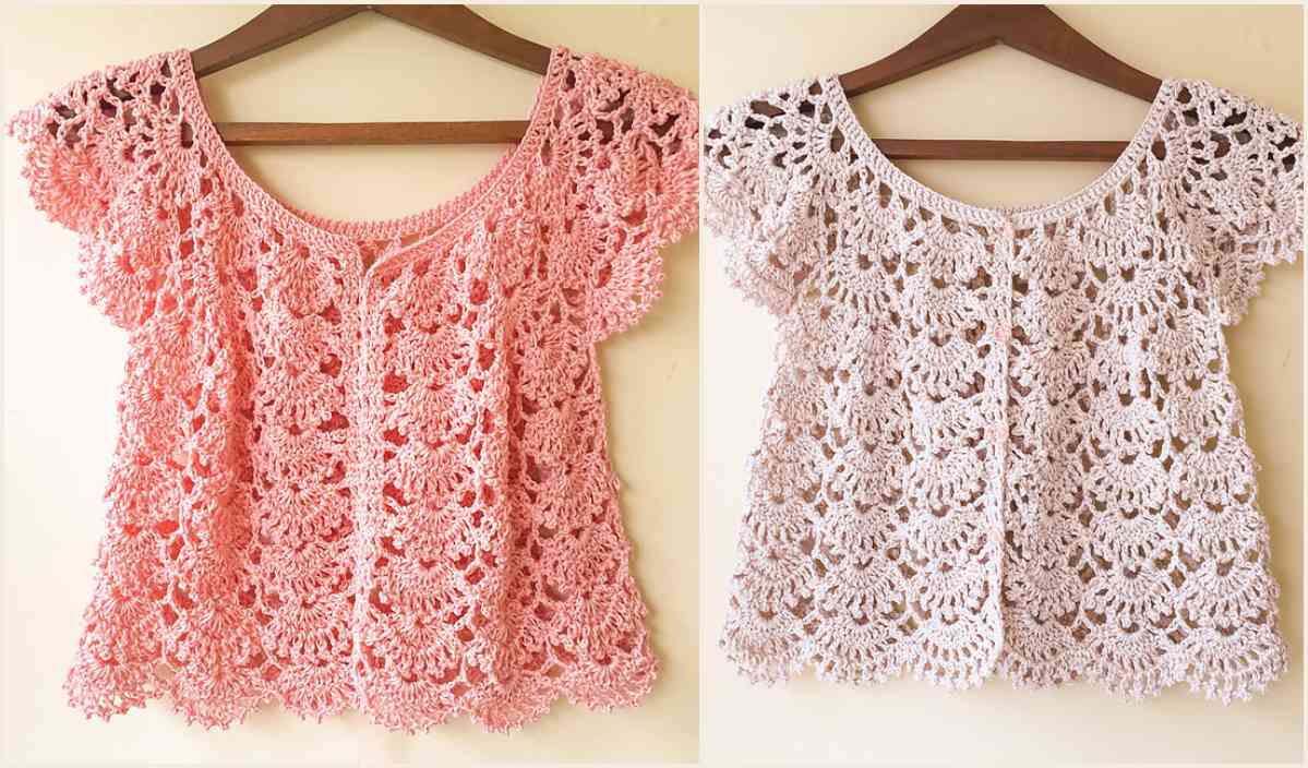 Summer Crochet Pattern Picot Fan Summer Cardigan Free Crochet Pattern Your Crochet