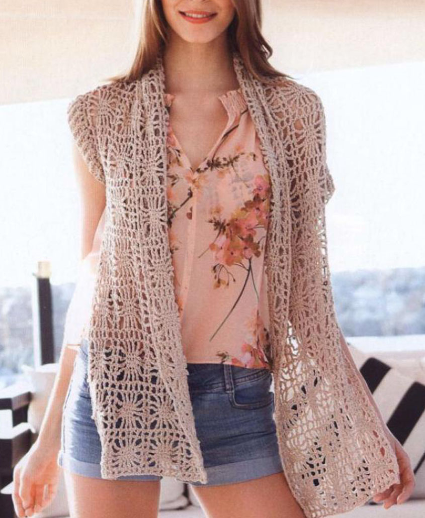 Summer Crochet Pattern Summer Vest Crochet Pattern Free