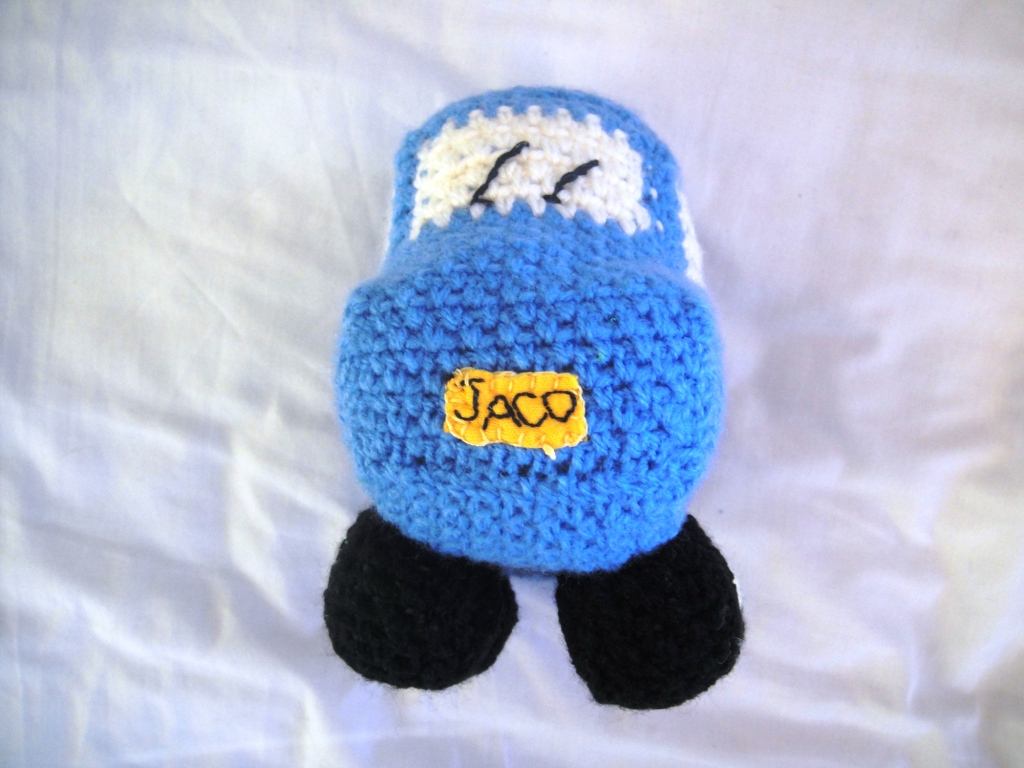 Things To Crochet  Little Blue Crochet Car Look At What I Made