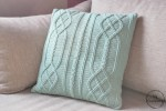 Cable Diamond Pillow - free crochet pattern