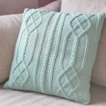 Cable Diamond Pillow – free crochet pattern