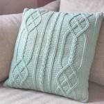 Cable Diamond Pillow – free crochet pattern