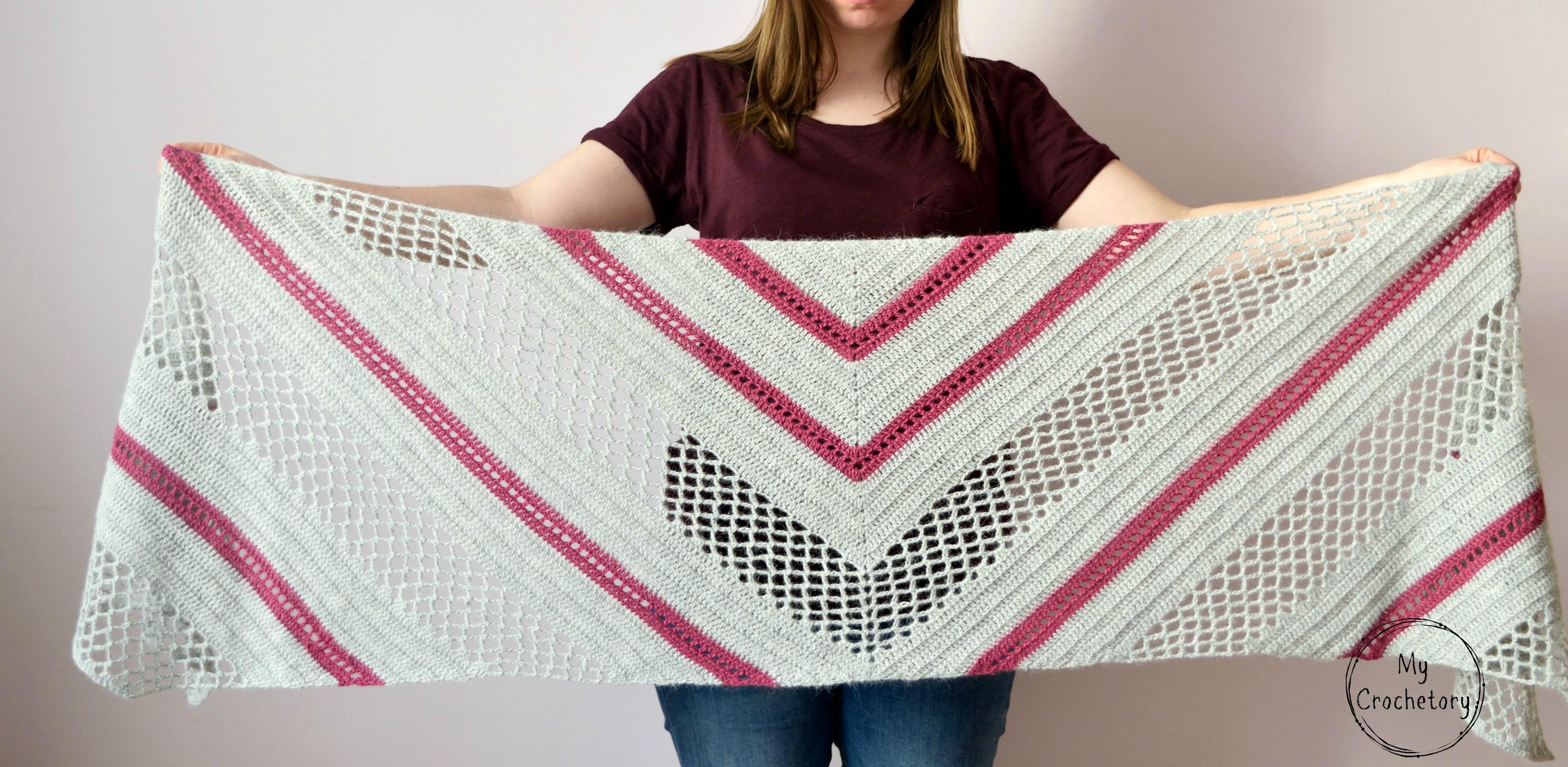 Spring Solstice Wrap Crochet Pattern Part 1 Mycrochetory Heart Shape Diagram
