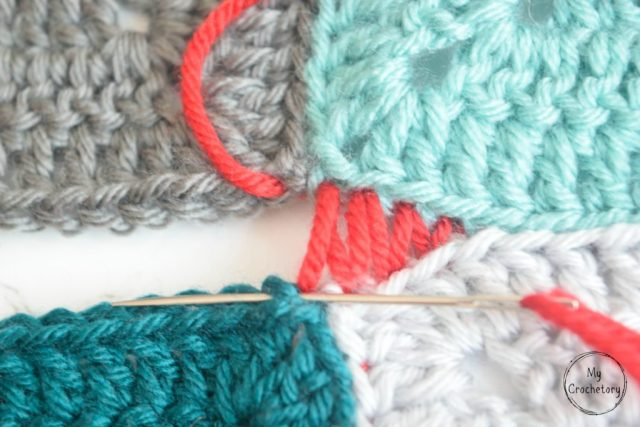 Mattress Stitch join tutorial for beginner by www.mycrochetory.com