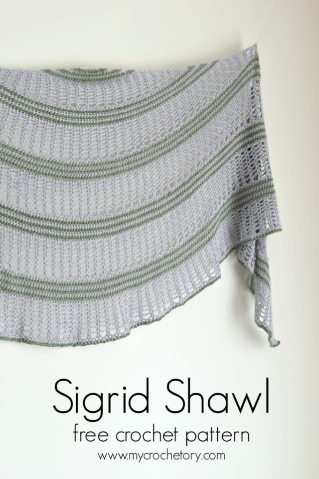 Sigrid Shawl Crescent Shaped Shawl By Mycrochetory