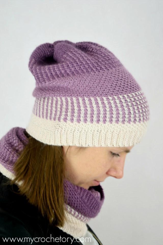Ombre Moss Stitch Crochet Beanie - free crochet pattern by mycrochetory.com