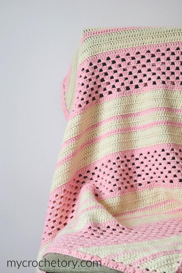 Diagonal Stone Blanket - MyCrochetory