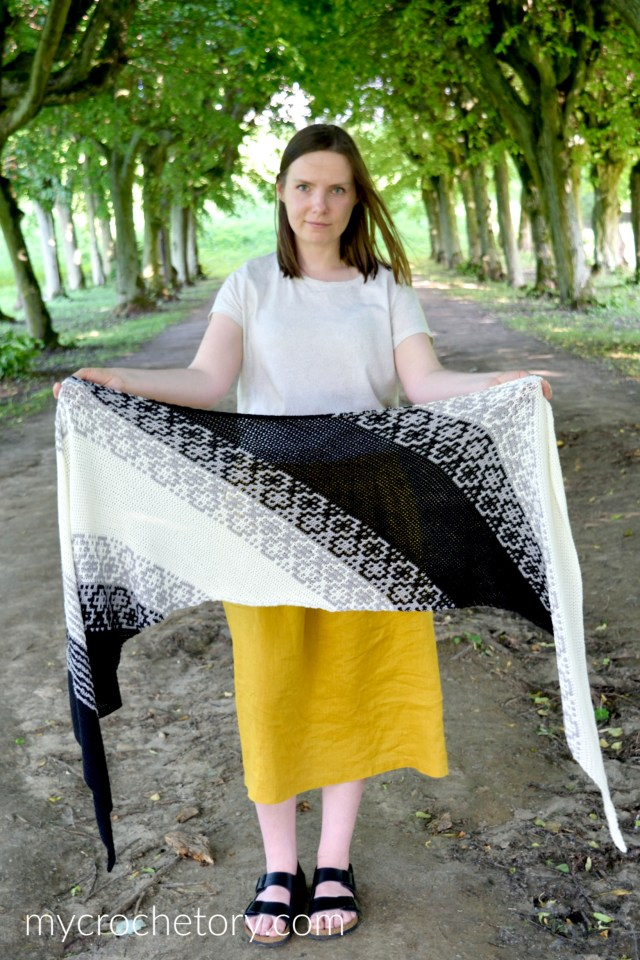Learn how to crochet on the bias with my new Monochrome Bias Crochet Wrap free crochet pattern.