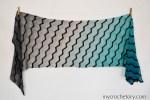 Ombre yarn Havra Crochet Wrap free pattern