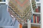 Namari Triangle Scarf - free mosaic crochet pattern