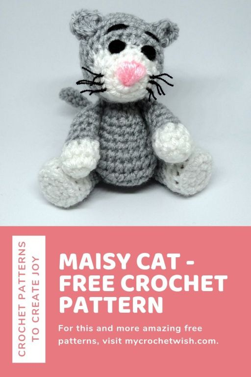This #amigurumi kitty has real whiskers. #catwhiskers ... | 768x512
