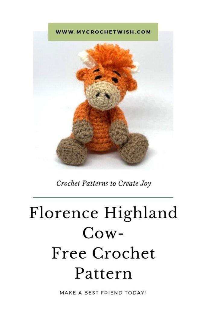 Florence Highland Cow Free Amigurumi Crochet Pattern