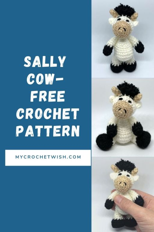 Amigurumi The Little Cow Free Crochet Pattern - Cool Creativities | 768x512