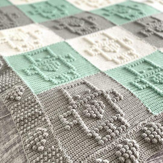 Cuddle Robot Baby Blanket Crochet Pattern