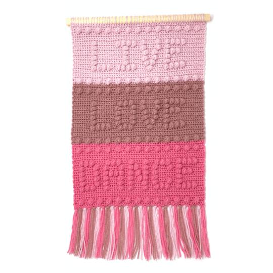 Live Love Dance Wall Hanging Crochet Pattern