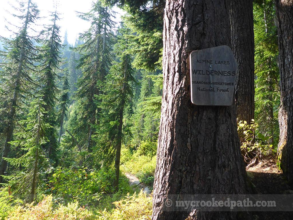 Entering the Alpine Lakes Wilderness