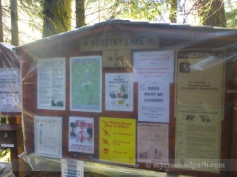 Apparently they wrap the trailhead signs for winter now