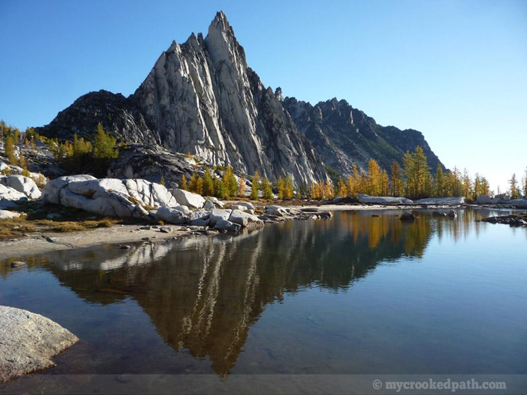 Prusik Peak reflections in Gnome Tarn