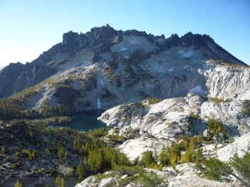 Leprechaun Lake and McClellan Peak