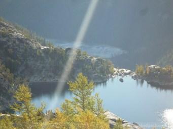 Over Viviane and down toward Snow Lakes