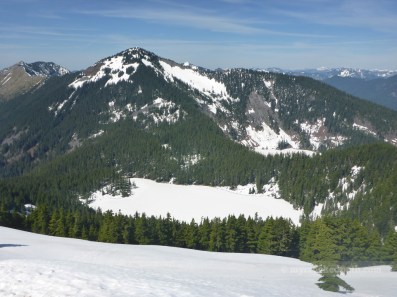 Frozen Mason Lake under Defiance