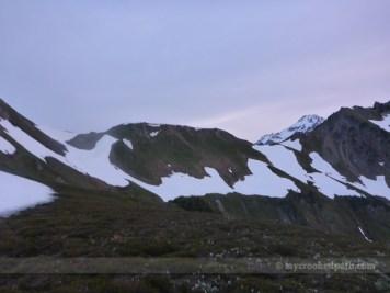 Glacier Peak over the White Mountain ridge, still so far away
